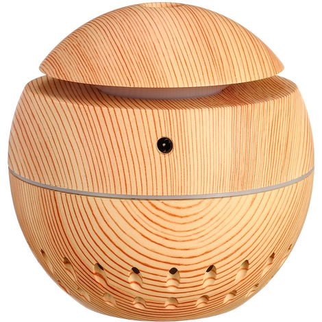 Air Humidifier LED Lights USB Electric Aroma Diffuser Wood Oil Hasaki