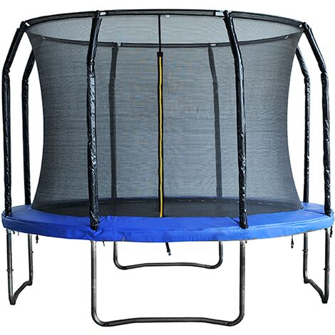 Air League 10ft Powder Coated Trampoline with Enclosure Blue