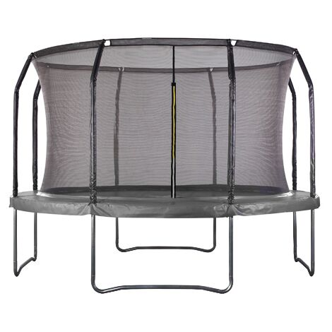 Air League 12ft Powder Coated Trampoline with Enclosure Black