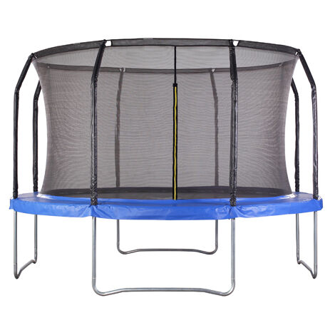 Air League 14ft Powder Coated Trampoline with Enclosure Blue