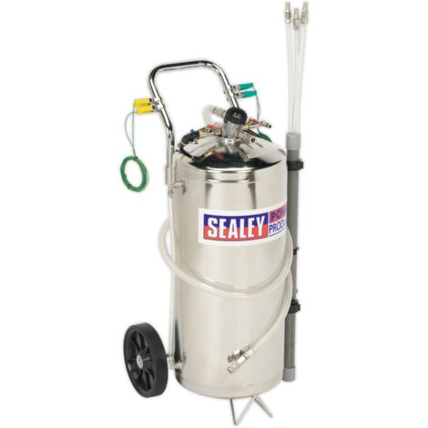 Air Operated Fuel Drainer 40ltr Stainless Steel