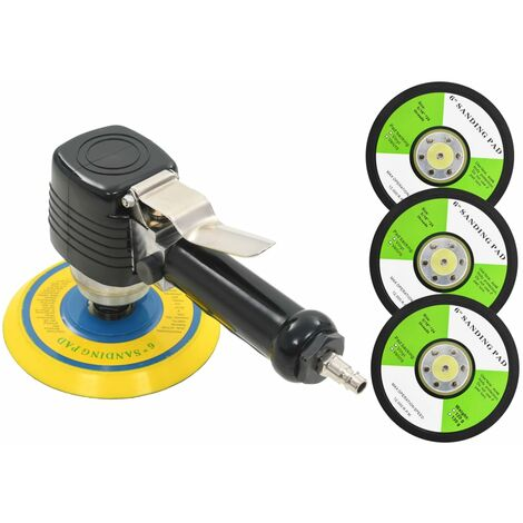 Air Orbital Sander with Handle and Sanding Pads 150 mm
