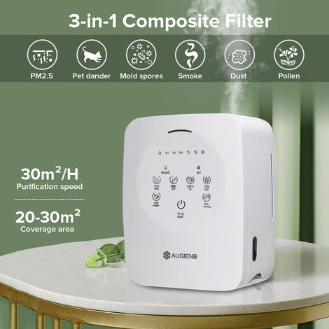 Air purifier for the elimination of odors 24h