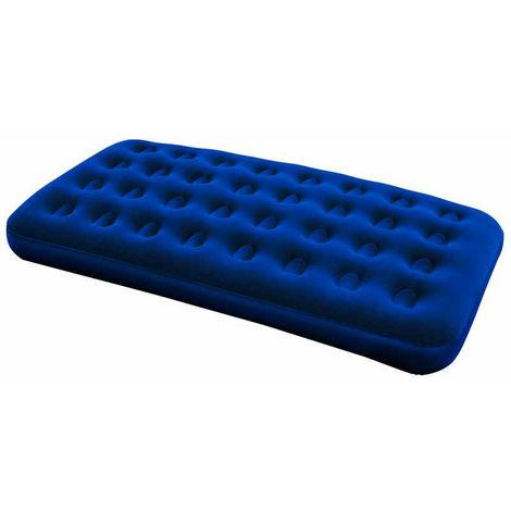 Airbed blu floccato plus 188x99h22cm