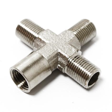 "Airbrush Connector 3 x 1/8"" (9,51 mm) External Thread 1 x 1/8"" (9,51 mm) Internal Thread"