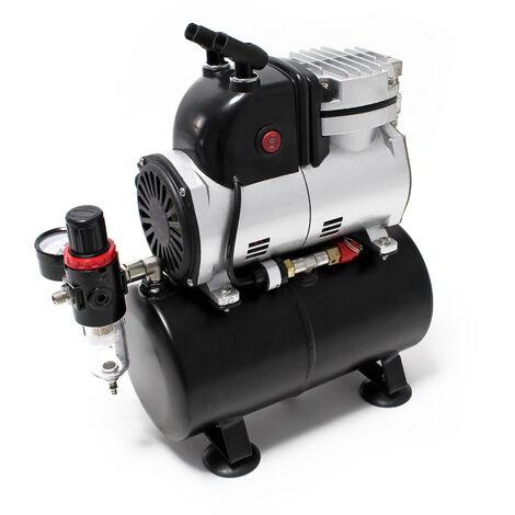 Airbrush Einzylinderkolbenkompressor AF189 mit Lufttank maximal Druck 6 bar