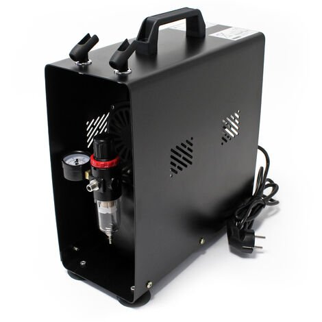 Airbrush Einzylinderkolbenkompressor AF189A mit Lufttank maximal Druck 6 bar