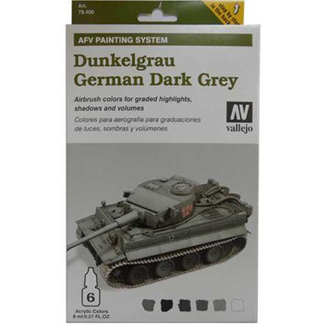 """main image of """"Airbrush Farb-Set """"German Dark Grey"""" Dunkelgrau Vallejo 78.400"""""""