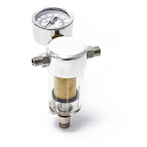 Airbrush Kompressor Minifilter Luftfilter Wasserabscheider Manometer 9,51mm