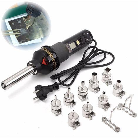 Aire 450W calor electrónico estación de desoldador de soldadura caliente a soldadura 220 V + 9 Boquilla Sasicare