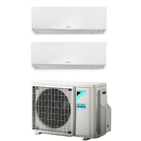 Aire acondicionado de pared Daikin Dualsplit 9000 + 12000 btu gas R32 wifi incluido   Blanco - Standard