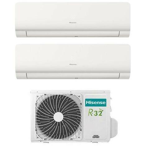 Aire acondicionado Inverter Hisense New Comfort Dual Split 9+9 9000+9000 BTU clase energética R-32 A++   Blanco