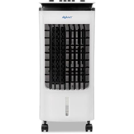 Aire acondicionado portatil |Avant | Climatizador Evaporativo portátil |Potencia 65W | Ventilador con oscilación automática, 3 Velocidades, Deposíto de Agua 4 L y Temporizador | Blanco.