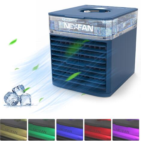 Aire acondicionado portatil NexFan, ventilador de enfriamiento de aire, ventilador de aire acondicionado, con funcion de filtracion de humidificador de enfriamiento,Azul