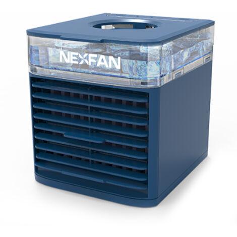 Aire acondicionado portatil NexFan, ventilador del enfriador de aire, ventilador del aire acondicionado, 3 velocidades, luz nocturna,Azul