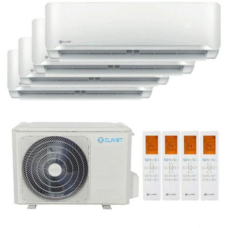 Aire acondicionado Quadri Split Clivet Essential II 2200+3000+3000+3000 frigorias Inverter R32++