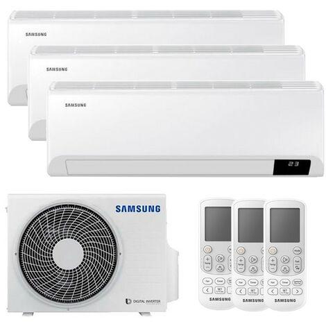 Aire acondicionado Trial Split Samsung CEBU 2200+2200+3000 Frigorias WIFI Inverter R32 A++