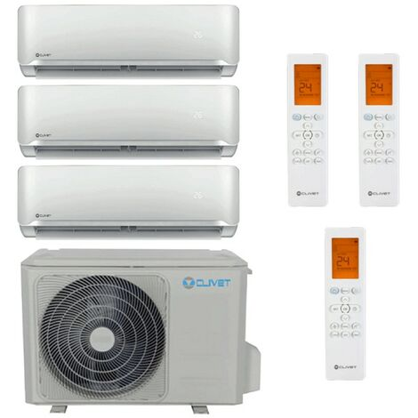 Aire acondicionado Triple Split Clivet Essential 2 inverter 2200+2200+3000 frigorias R32