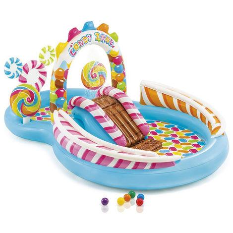 Aire de jeu gonflable Candy Zone - L. 295 x l. 191 x H. 130 cm -PEGANE-