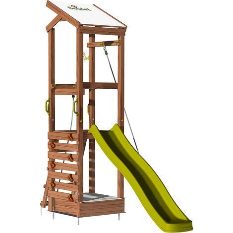 Aire de jeux avec mur d'escalade et corde à grimper - HAPPY Rop