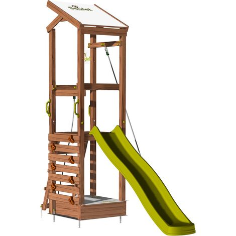 Aire de jeux avec mur d'escalade et corde à grimper - HAPPY Rope