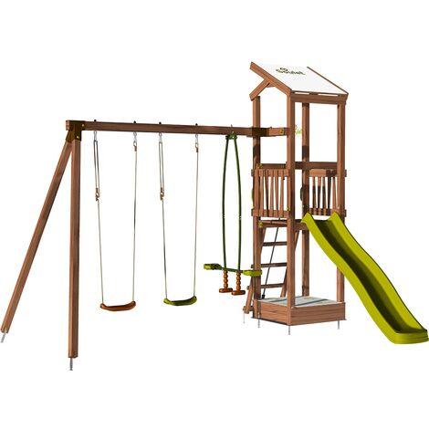Aire de jeux avec portique et bac à sable - HAPPY Swing 120 sans
