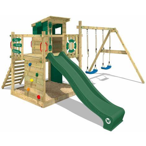 aire de jeux bois wickey smart camp aire de jeux avec toit. Black Bedroom Furniture Sets. Home Design Ideas