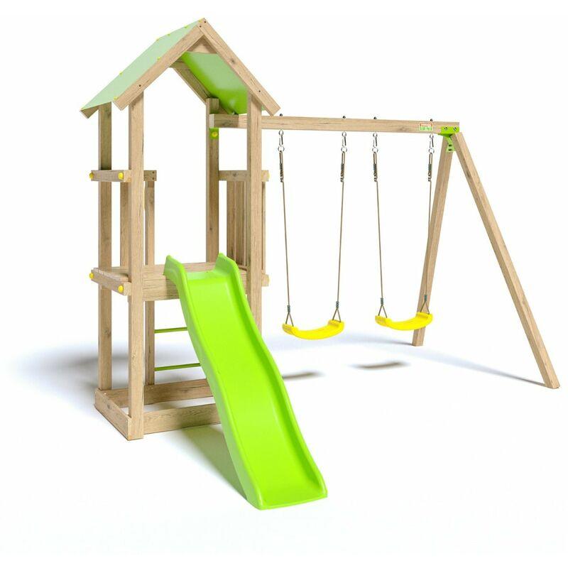 Aire de jeux en bois EASY XPERIENCE TRIGANO - 6 enfants