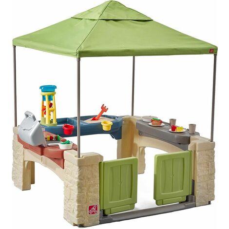 Aire de jeux en plastique avec tente intégrée