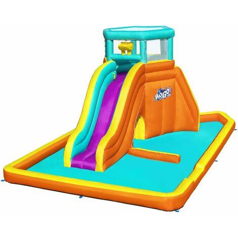 Aire de jeux gonflable Belcastel avec toboggan, pataugeoire, tunnel, souffleur et sac de transport