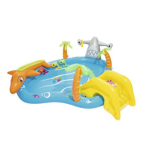 Aire de jeux gonflable BESTWAY SEA LIFE Avec pulvérisateur d'eau 280 L Dimensions : 280 x 257 x 87 cm