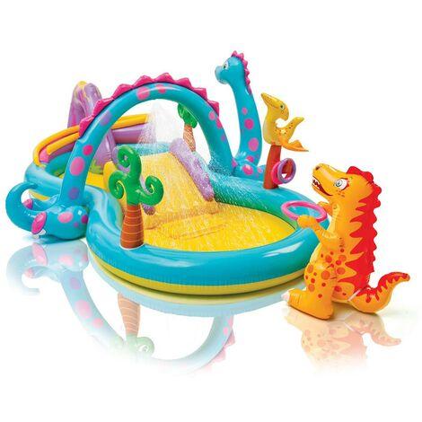 Aire de jeux gonflable Dinoland - Multicolore