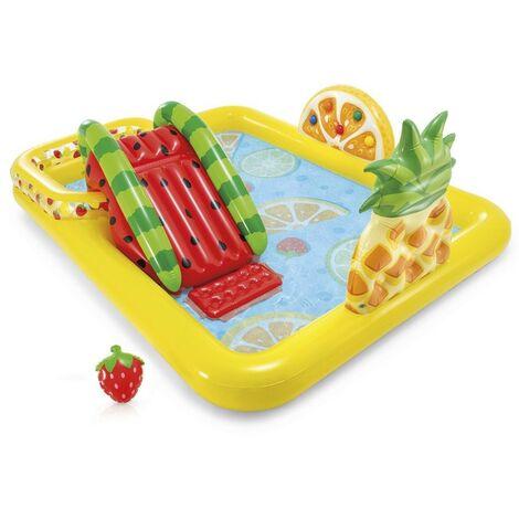 Aire de jeux gonflable Multifruits - Jaune