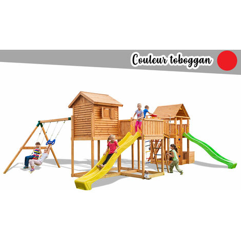Aire de jeux Maxi Play Box - Toboggan Rouge