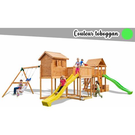 Aire de jeux Maxi Play Box - Toboggan Vert