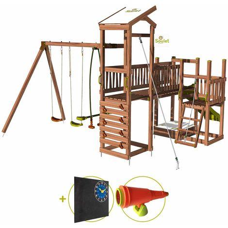 Aire de jeux pour enfant 3 tours avec pont et portique - CRAZY Bridge Kit d'accessoire DECOUVERTE