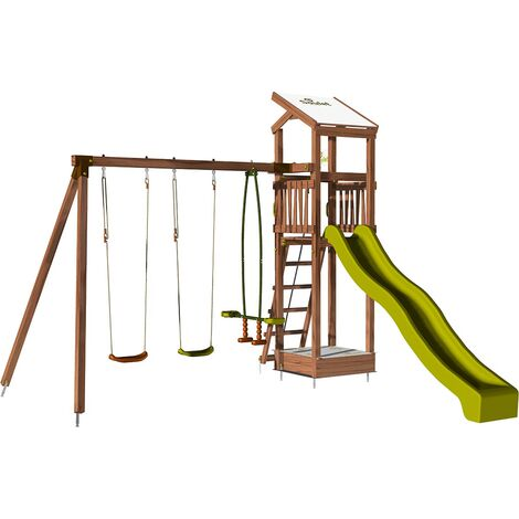 Aire de jeux pour enfant avec portique et bac à sable - HAPPY Slide 150 sans option