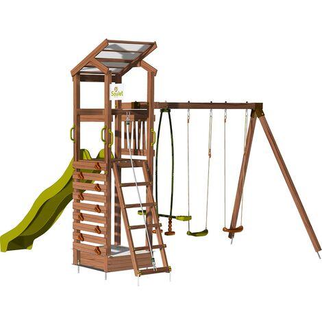 Aire de jeux pour enfant avec portique et bac à sable - HAPPY Swing 150 sans option