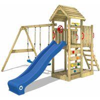 c2ccaf9f1cad5 Aire de jeux WICKEY MultiFlyer portique avec toit en bois