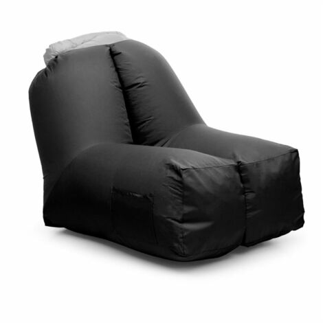 """main image of """"Airlounge Air Chair 90x80x150cm Backpack Washable Polyester Black"""""""