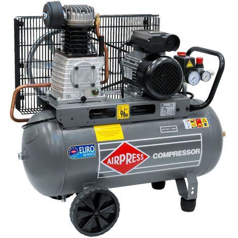 Airpress® Druckluft- Kompressor 2 PS 1,5 kW 10 bar 50 Liter Kessel 230 V HL 310-50 mobiler Kolben-Kompressor