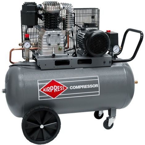 Airpress® Druckluft- Kompressor 3 PS 2,2 kW 10 bar 100 Liter Kessel 400 V großer Kolben-Kompressor HK 425-100