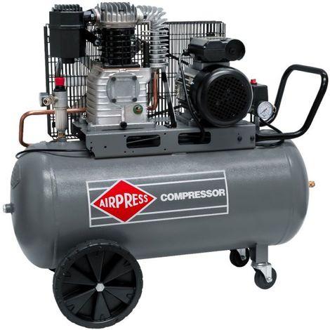 Airpress® Druckluft-Kompressor 3 PS 2,2 kW 10 bar 100 Liter Kessel mobiler Kolben-Kompressor 230 Volt HL425-100