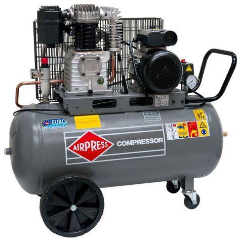 Airpress® Druckluft-Kompressor 3 PS | 2,2 kW 10 bar 90 Liter Kessel 230 V ölgeschmierter Kolben-Kompressor HL 425-90