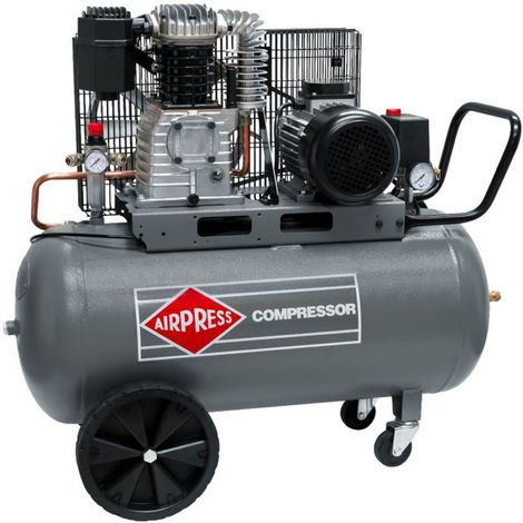 Airpress® Druckluft-Kompressor 3 PS | 2,2 kW 10 bar 90 Liter Kessel 400 V HK 425-90 ölgeschmierter Luftkompressor