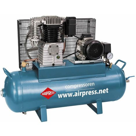 Airpress® Druckluft-Kompressor 3 PS | 2,2 kW 15 bar 100 l Kessel 400 Volt ölgeschmierter Kolben-Kompressor