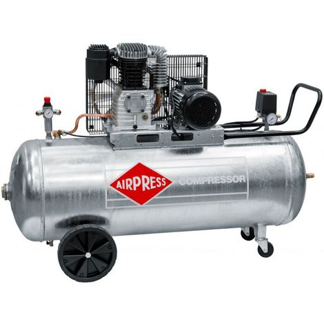 Airpress® Druckluft-Kompressor 4 PS   3 kW 10 bar 200 l Kessel 400 Volt ölgeschmierter Kolben-Kompressor