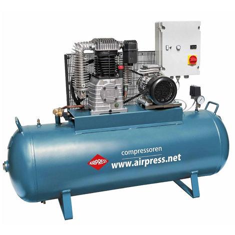 Airpress® Druckluft-Kompressor 5,5 PS 4 kW 15 bar 300 l Kolbenkompressor 400 Volt Werkstatt Luftdruck-Kompressor