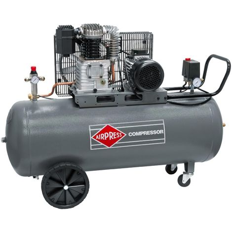 Airpress® ölgeschmierter Druckluft-Kompressor 3 PS   2,2 kW 10 bar150 Liter Kessel 400 Volt großer Kolben-Kompressor HK 425-150