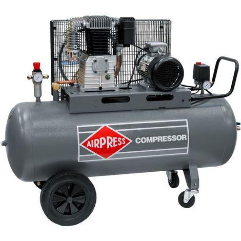 Airpress® ölgeschmierter Druckluft-Kompressor 5,5 PS   4 kW 11 bar 200 l Kessel 400 Volt großer Luftdruck Kolben-Kompressor Mobil HK 650-200